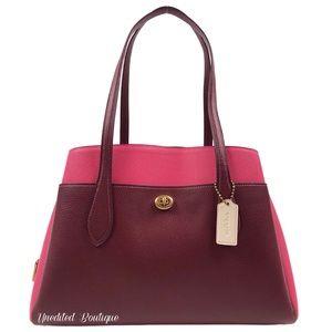 COACH Lora Carryall Tote Handbag In Colorblock